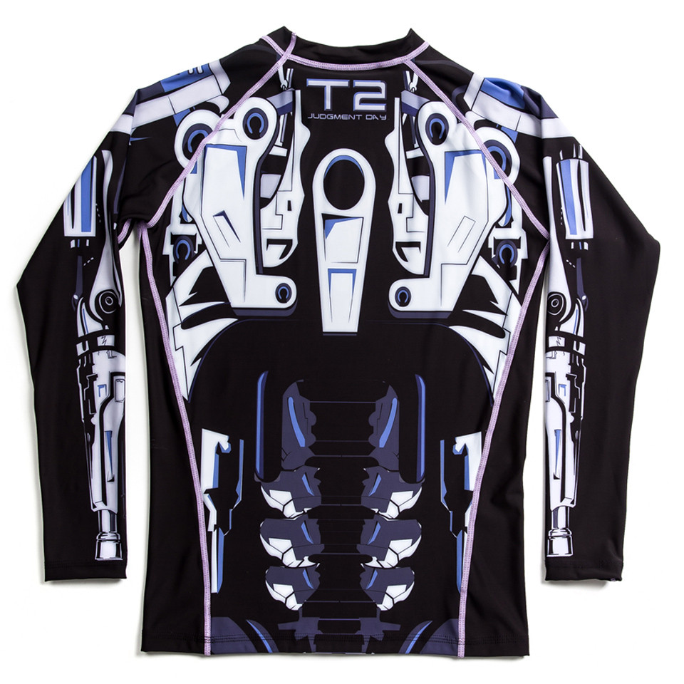 Fusion FG Terminator 2 Endoskeleton BJJ Rashguard available at www.thejiujitsushop.com   Enjoy Free Shipping from The Jiu Jitsu Shop today!