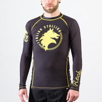 Fusion FG Rockly Italian Stallion BJJ Rashguard in Black now available at www.thejiujitsushop.com  Enjoy Free Shipping from The Jiu Jitsu Shop today