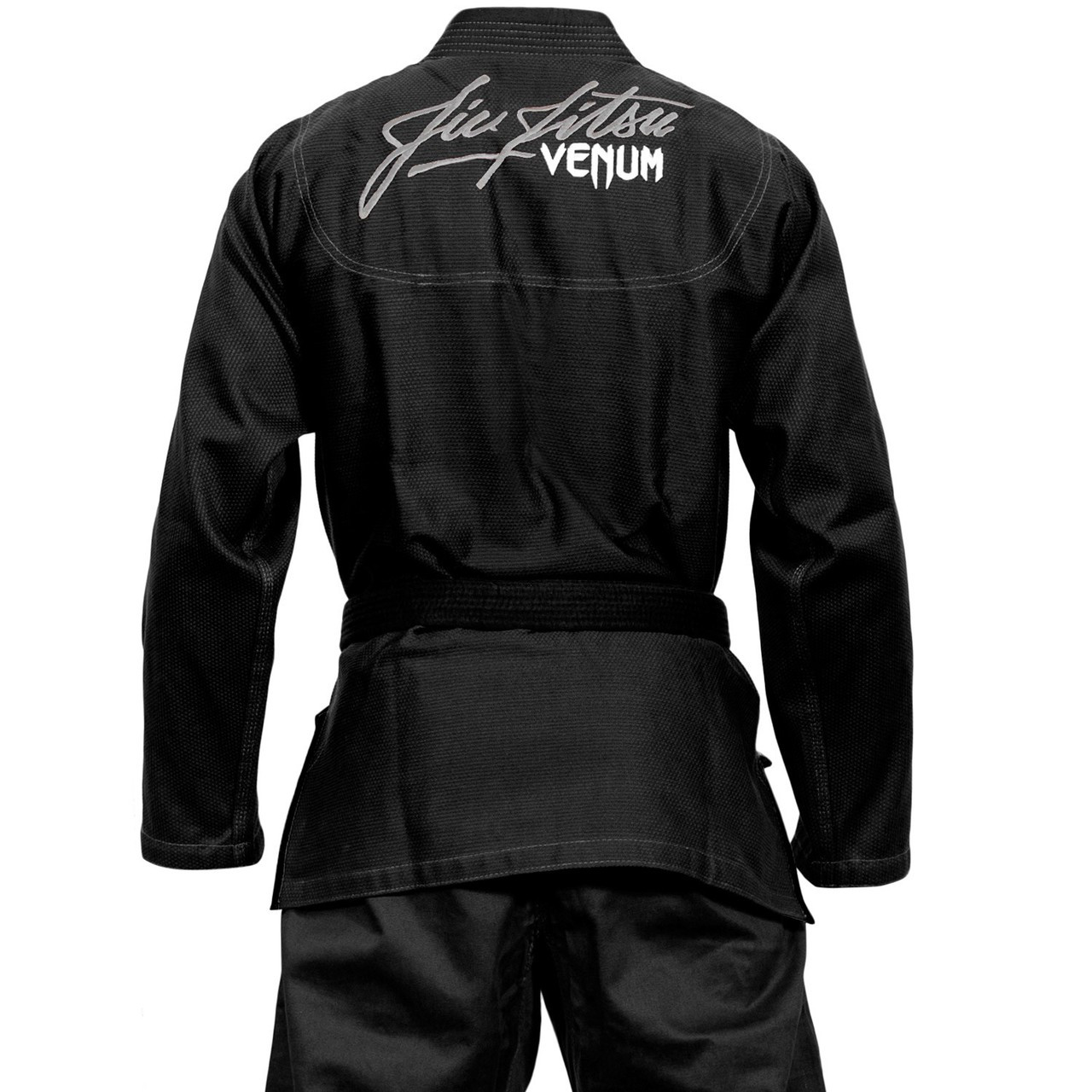 back view of the Venum challenger 3.0 BJJ Gi Black/Grey Available at www.thejiujitsushop.com  Enjoy Free Shipping from The Jiu Jitsu Shop today!