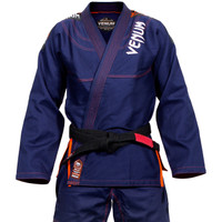 Venum challenger 3.0 BJJ Gi Navy/Orange Available at www.thejiujitsushop.com  Enjoy Free Shipping from The Jiu Jitsu Shop today!