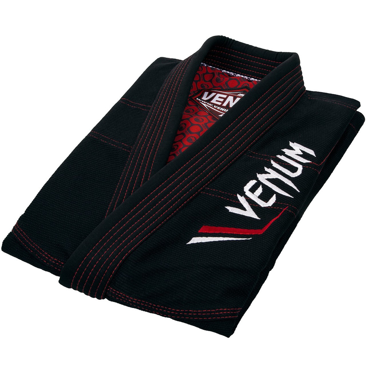 Folded gi Venum Elite Light BJJ GI in Black is now available at www.thejiujitsushop.com  Enjoy Free Shipping from The Jiu Jitsu Shop today!