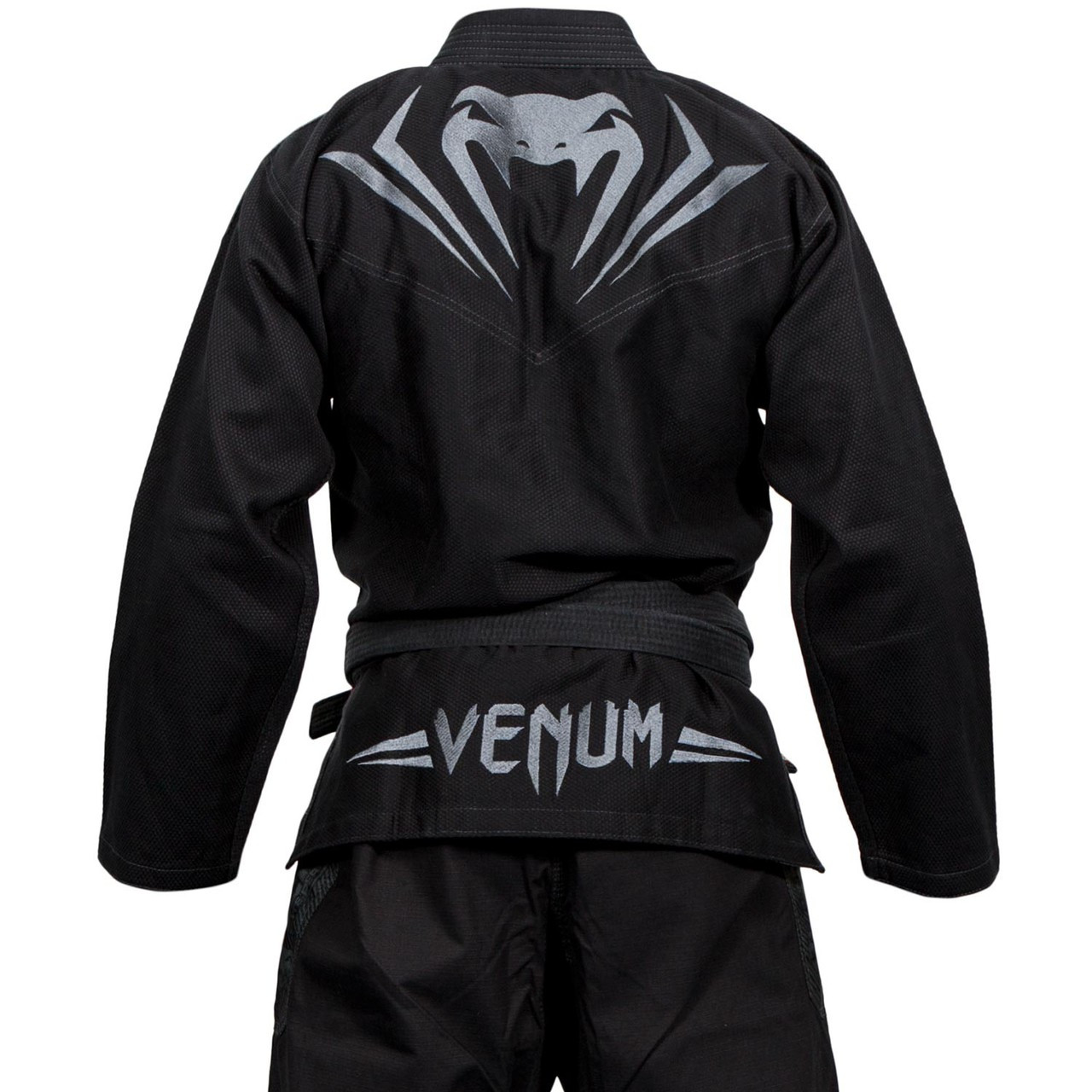 Back of the Venum Elite BJJ GI in Black on black  is now available at www.thejiujitsushop.com  Enjoy Free Shipping from The Jiu Jitsu Shop today!