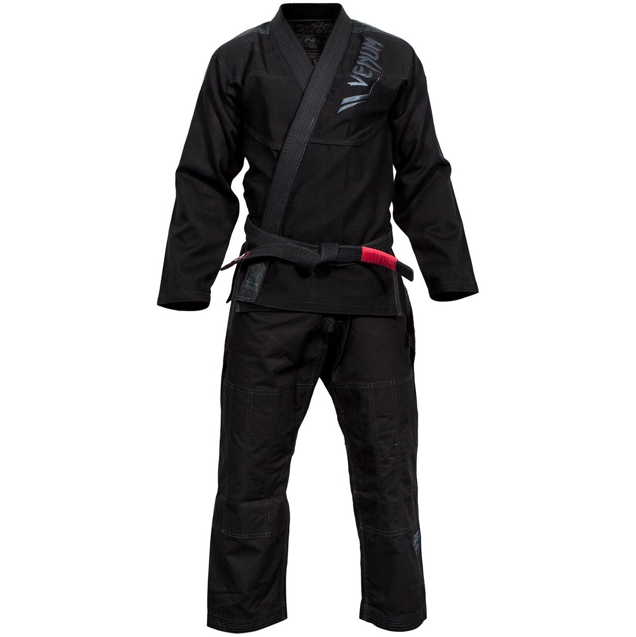 Full view of the Venum Elite BJJ GI in Black on black  is now available at www.thejiujitsushop.com  Enjoy Free Shipping from The Jiu Jitsu Shop today!