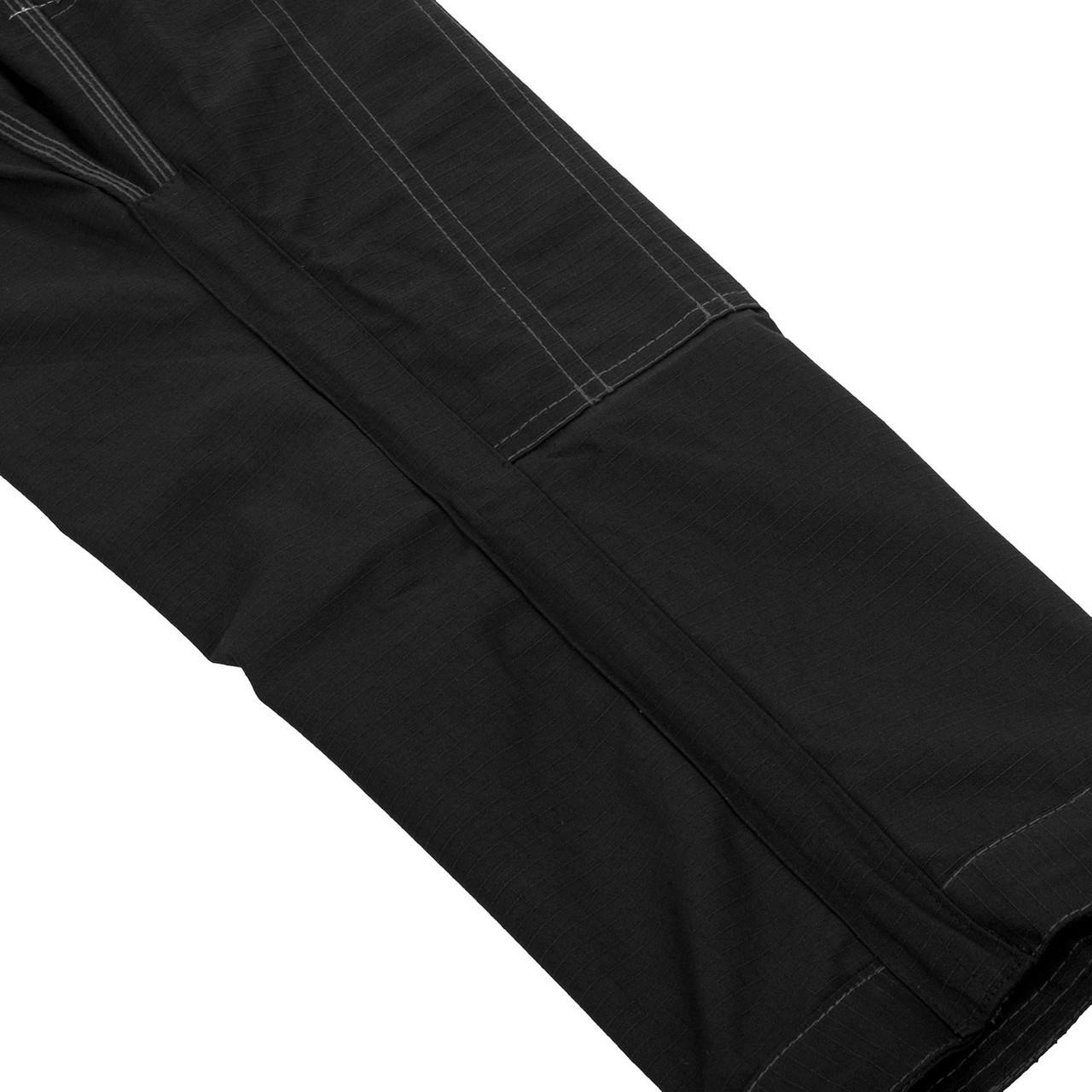 Inside gi pants Venum Elite BJJ GI in Black on black  is now available at www.thejiujitsushop.com  Enjoy Free Shipping from The Jiu Jitsu Shop today!