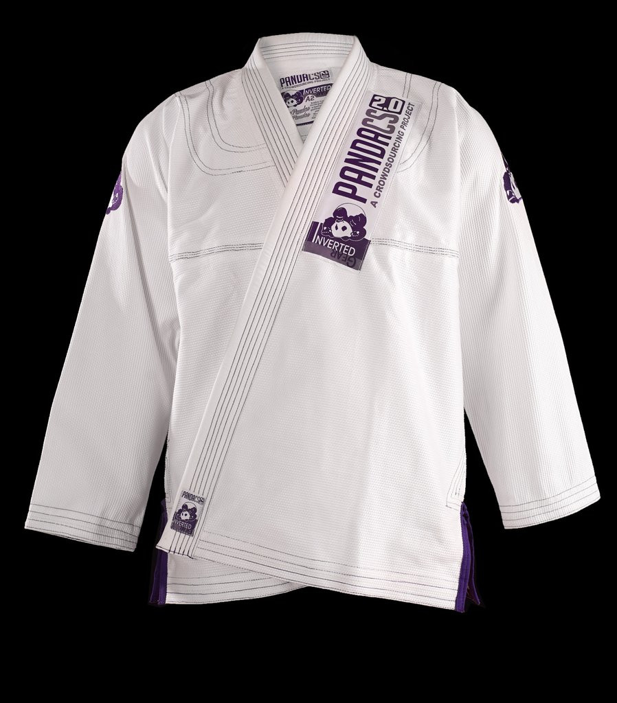 Inverted Gear Panda CS 2.0 .  The revamped crowdsourced gi.  White and purple from The Jiu Jitsu Shop.  Enjoy free shipping today at www.thejiujitsushop.com