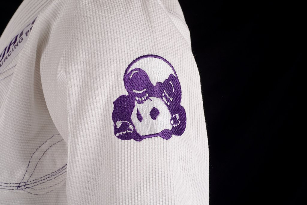 Side arm of the Inverted Gear Panda cs 2.0 with the purple patch on side of the arm.  Free Shipping from www.thejiujitsushop.com