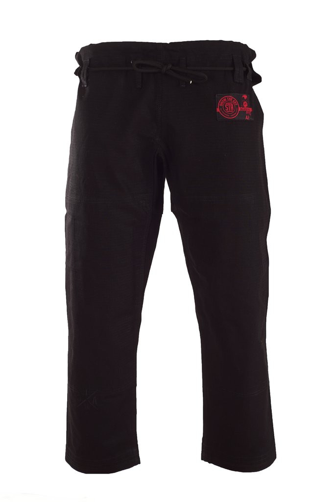 Inverted Gear Dark Matter Gi pants collaboration with show the art.  Available at www.thejiujitsushop.com