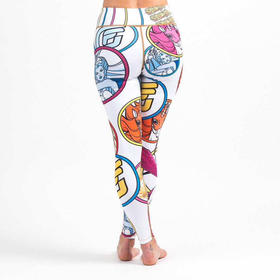 Back view Fusion FG She-Ra Women's Leggings (Spats) Available now at www.thejiujitsushop.com  Enjoy Free Shipping on these sweet Spats at The Jiu Jitsu Shop