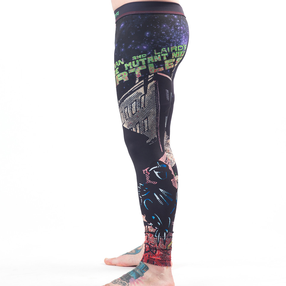 Side view of the Fusion FG Teenage Mutant Ninja Turtles Book One Spats available at www.thejiujitsushop.com  Enjoy Free Shipping from The Jiu Jitsu Shop today!