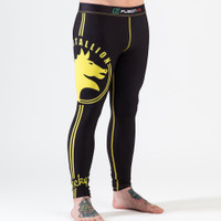 Fusion FG Rocky Italian Stallion Spats in Black with Yellow available now at www.thejiujitsushop.com  Enjoy Free Shipping today from The Jiu Jitsu Shop.