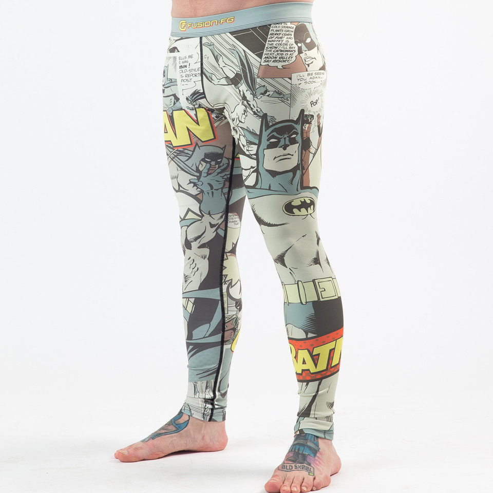Fusion FG Batman Pop Art Spats available at www.thejiujitsushop.com   Enjoy Free Shipping from The Jiu Jitsu Shop