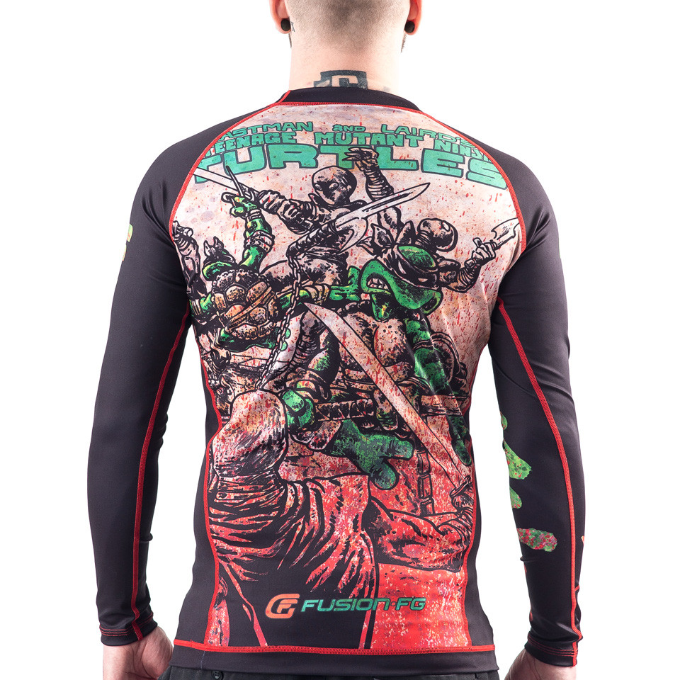 Back view of the Fusion FG Teenage Mutant Ninja turtle Rashguard available at www.thejiujitsushop.com  Enjoy Free Shipping from The Jiu Jitsu Shop today!
