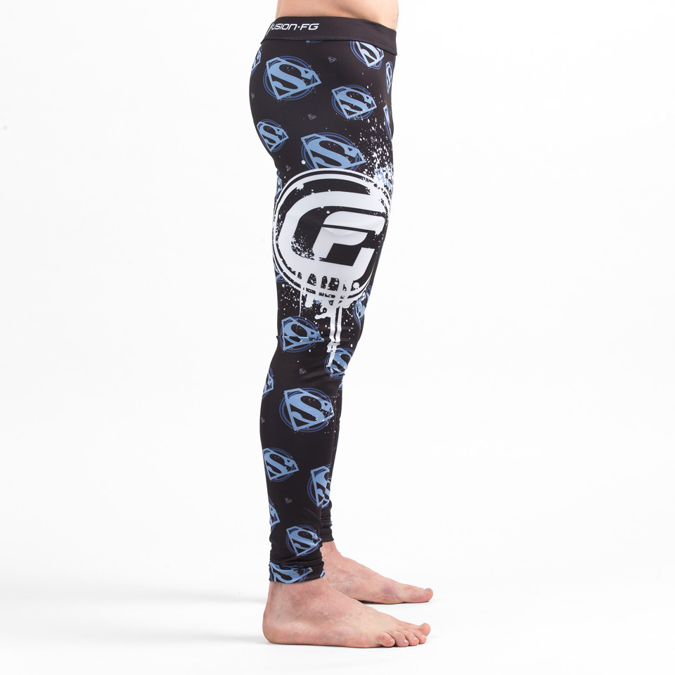 Right pant leg of the Fusion FG Superman Urban Spats available at www.thejiujitsushop.com  Enjoy Free Shipping from The Jiu Jitsu shop today!
