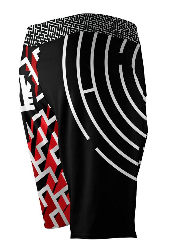 Back of the Newaza Apparel X Scramble  Submission Seeker BJJ Shorts.  Available at www.thejiujitsushop.com  Enjoy Free Shipping today!