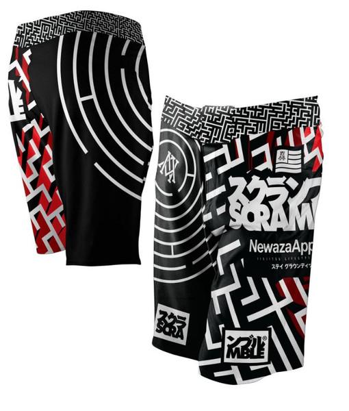 Newaza Apparel X Scramble  Submission Seeker BJJ Shorts.  Available at www.thejiujitsushop.com  Enjoy Free Shipping today!