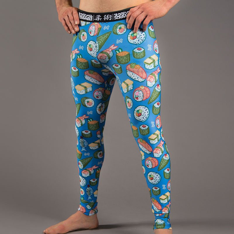 alternate view of the Scramble Sushi Spats are finally at The Jiu Jitsu Shop and ready to roll.  Pun very much intended.    Free shipping at www.thejiujitsushop.com