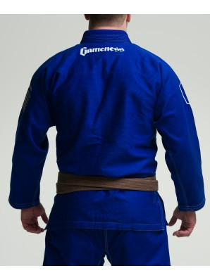Back of the Gameness 2016 Feather Gi.  Availalble in fitted sizes as well.  Now available at www.thejiujitsushop.com  Enjoy Free Shipping from The Jiu Jitsu Shop