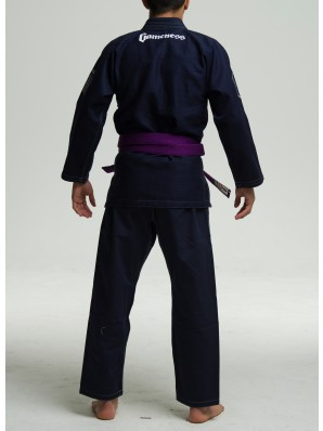 Back view of the Navy Gameness 2017 Feather Gi.  Available in fitted sizes as well.  Now available at www.thejiujitsushop.com  Enjoy Free Shipping from The Jiu Jitsu Shop