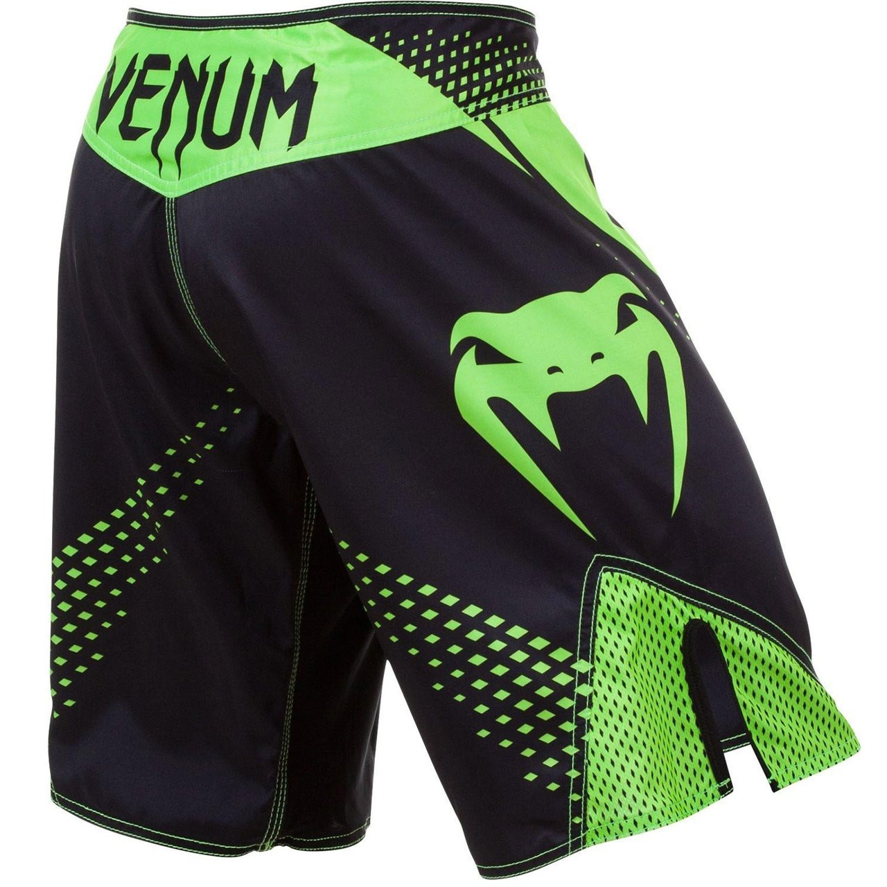 Back view of the Black and Green.  Venum Hurricane Fight Shorts now available at www.thejiujitsushop.com Bring black and green shorts to take on the world.   Enjoy Free Shipping from The Jiu Jitsu Shop today!