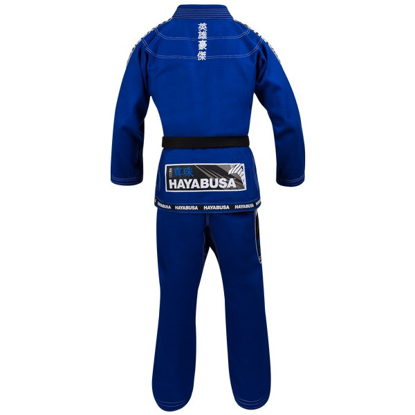 Back of the Hayabusa Shinju 3 Pearl Weave Blue Jiu Jitsu Gi now available at www.thejiujitsushop.com  Enjoy Free Shipping on this comfortable durable new gi from The Jiu Jitu Shop