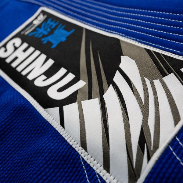 Woven patch on the Hayabusa Shinju 3 Pearl Weave Blue Jiu Jitsu Gi now available at www.thejiujitsushop.com  Enjoy Free Shipping on this comfortable durable new gi from The Jiu Jitu Shop