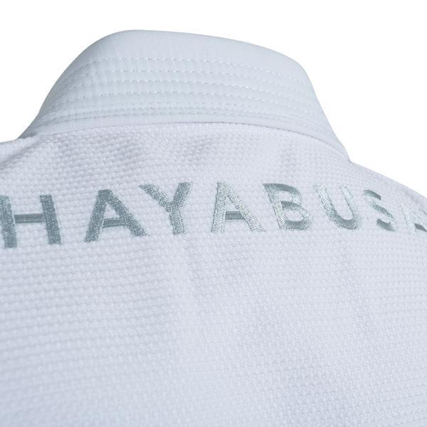 White Hayabusa Stealth Gi back embroidery from www.thejiujitsushop.com  Enjoy Free Shipping from The Jiu Jitsu Shop today!