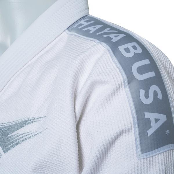 Shoulder patch of the Hayabusa Stealth Jiu Jitsu Gi in White available at www.thejiujitsushop.com  Enjoy Free Shipping from The Jiu Jitsu Shop.
