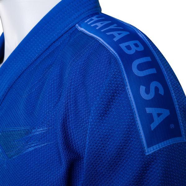 Shoulder patch of the Hayabusa Stealth Jiu Jitsu Gi in Blue available at www.thejiujitsushop.com  Enjoy Free Shipping from The Jiu Jitsu Shop.