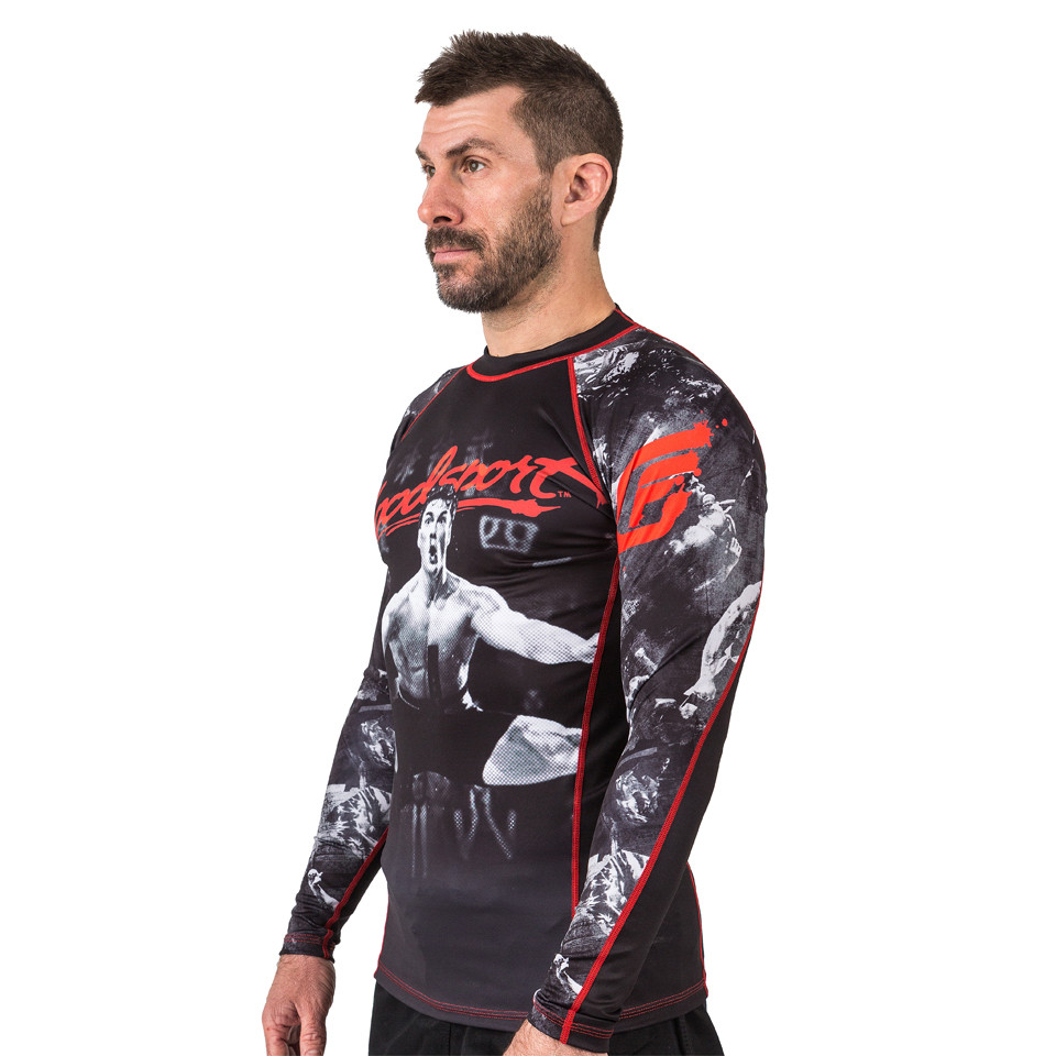model left side rashguard