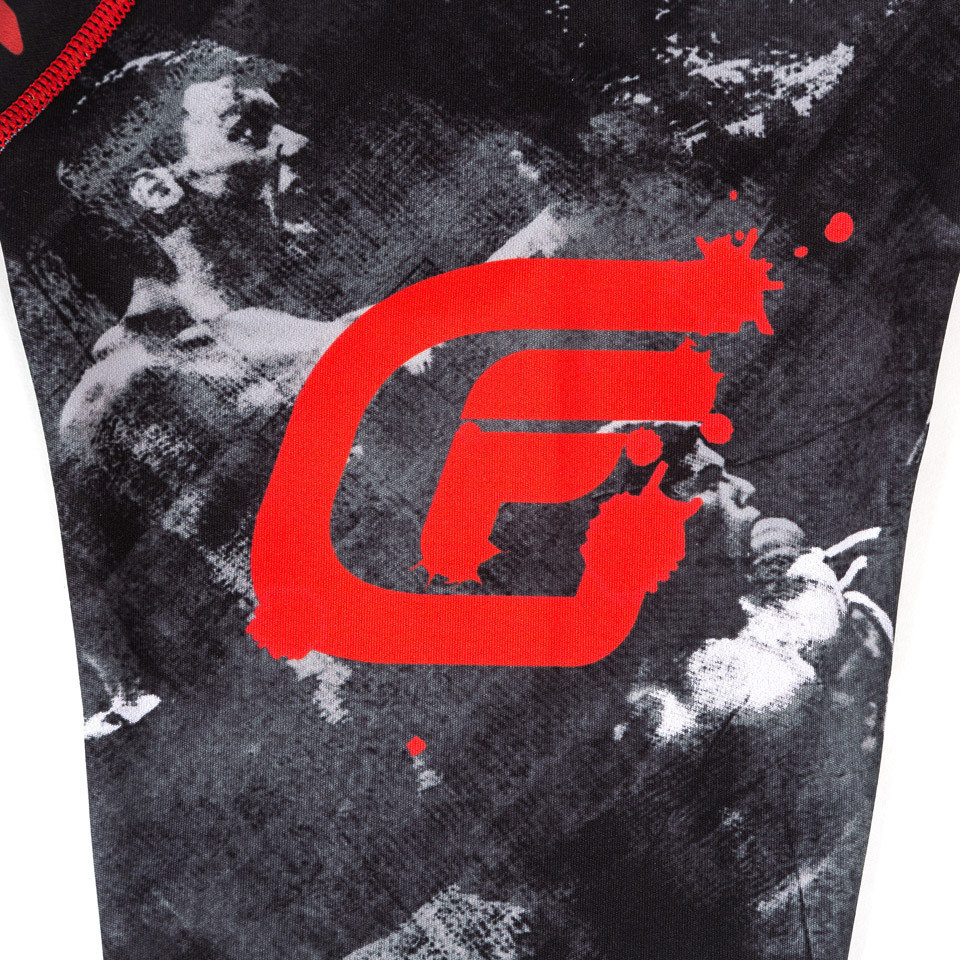 sleeve of teh Fusion FG Bloodsport Rashguard.  Unique and officially licensed bloodsport Jiu Jitsu Rashguard.  Available at www.thejiujitsushop.com  Enjoy Free Shipping from The Jiu Jitsu Shop