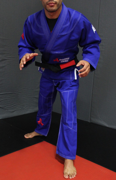 Open Guard Apparel Champion Gi, featured in royal blue! Available at www.openguardapparel.com.  Enjoy premium BJJ gear for the family.