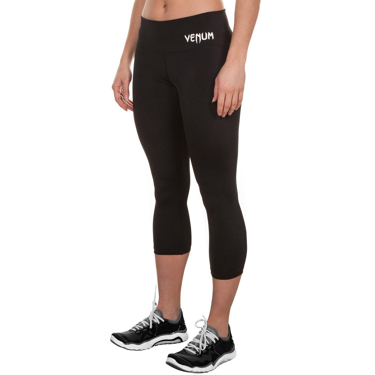 Front size of Venum Essential Leggings now available at www.thejiujitsushop.com  Enjoy Free Shipping from The Jiu Jitsu Shop today!
