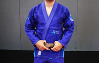 Royal Blue Open Guard Apparel Blizzard Gi.  Great for training or competition.  Teal accents across the gi.  Ultra Light Gi