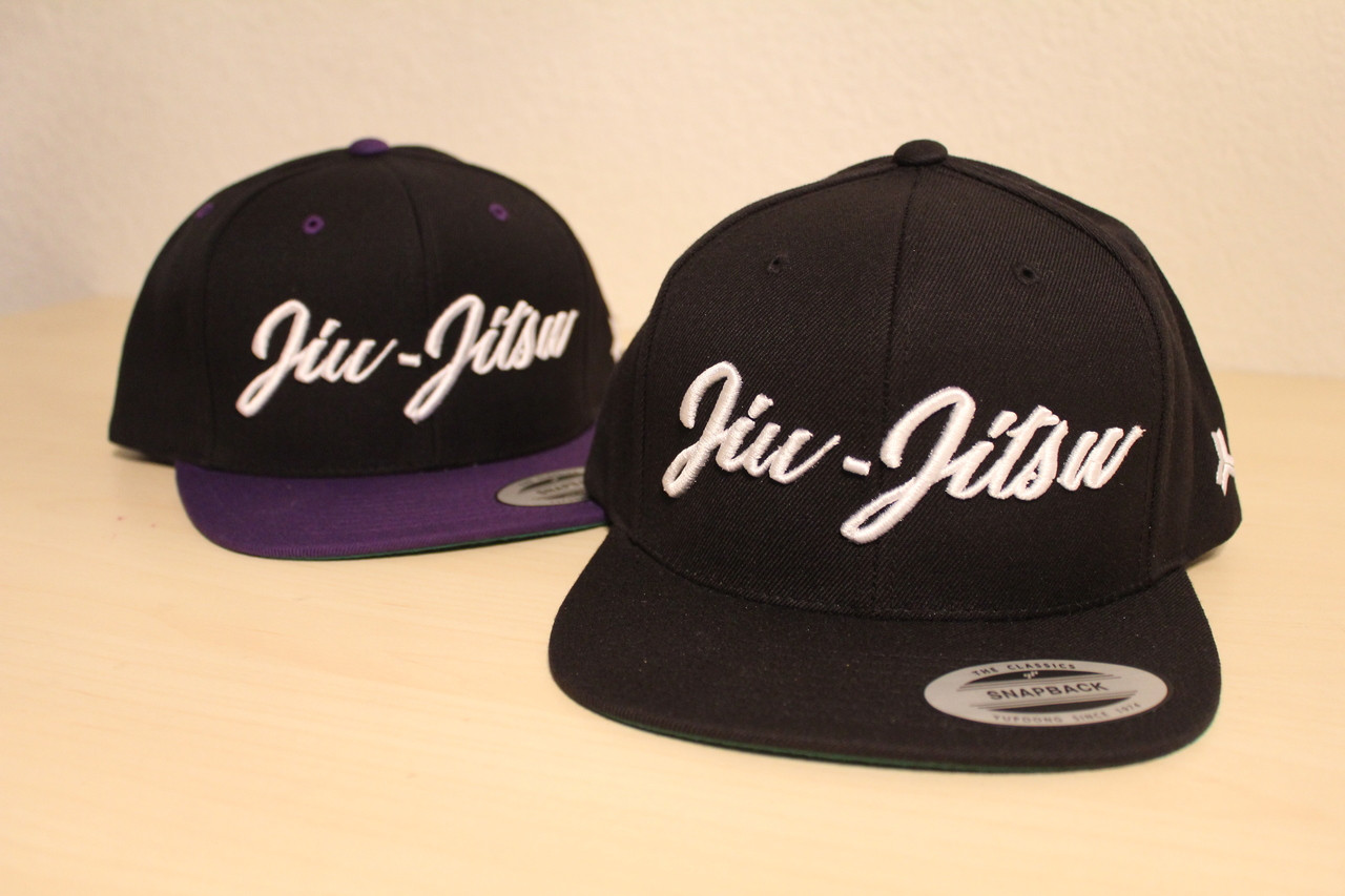 Open Guard Apparel All Black Jiu Jitsu Cursive Hat Snap back style.
