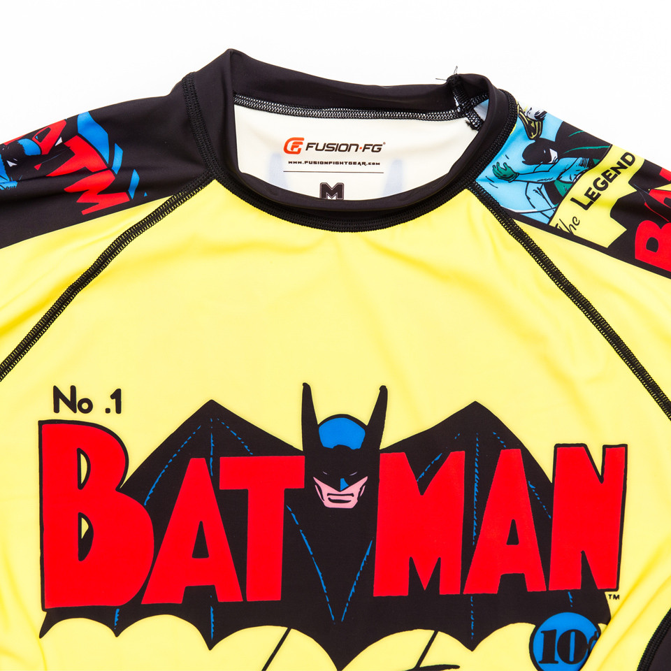 Fusion FG Batman Number 1 Comic Rashguard Compression  Shirt available at www.thejiujitsushop.com  Enjoy Free Shipping from The Jiu Jitsu Shop today!