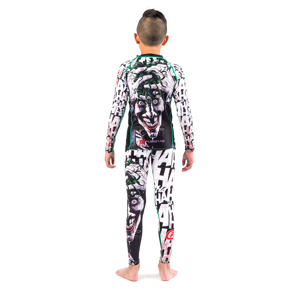 Fusion FG Batman The Killing Joke Kids BJJ Spats (compression pants) at www.thejiujitsushop.com  Enjoy Free Shipping from The Jiu Jitsu Shop today!