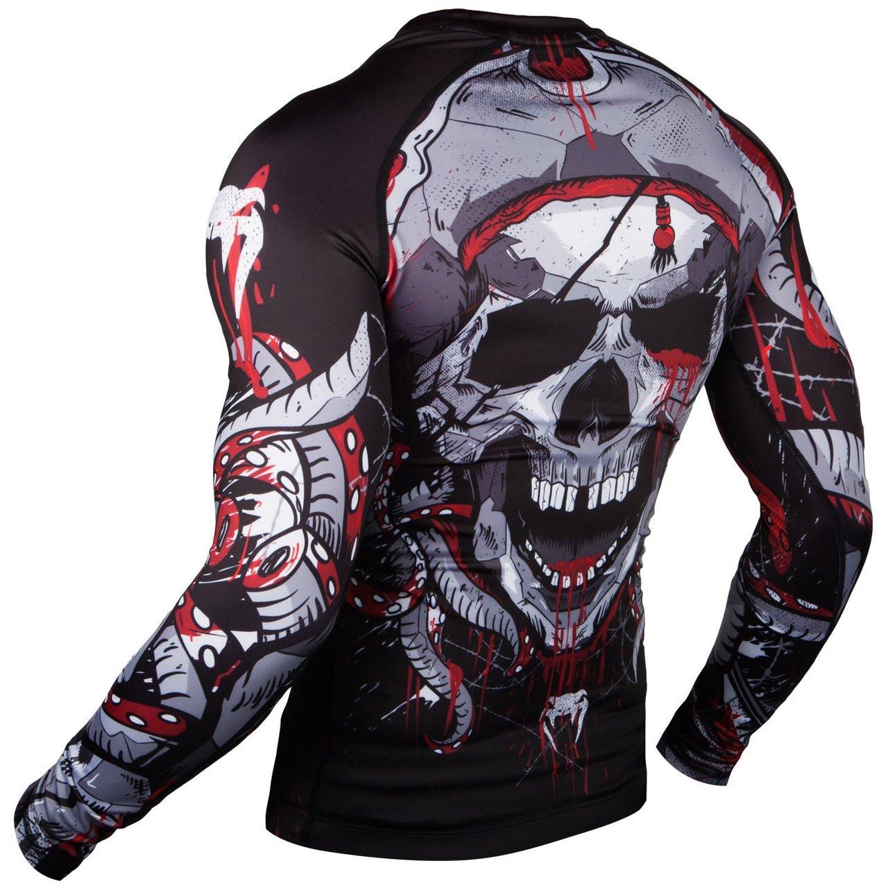 Venum Pirate 3 0 Rashguard MMA/BJJ (Black/Red) Longsleeve