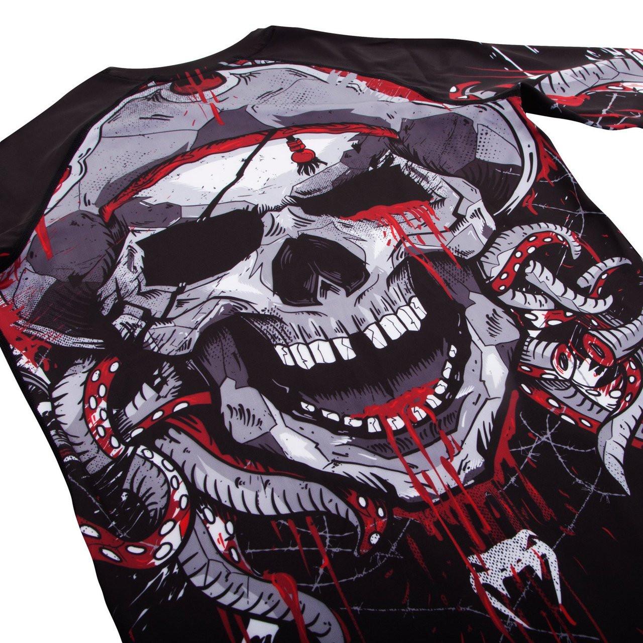 Venum pirate 3.0 rashguard black/red Longsleeve available at www.thejiujitsushop.com  Enjoy Free shipping from The Jiu Jitsu Shop today!