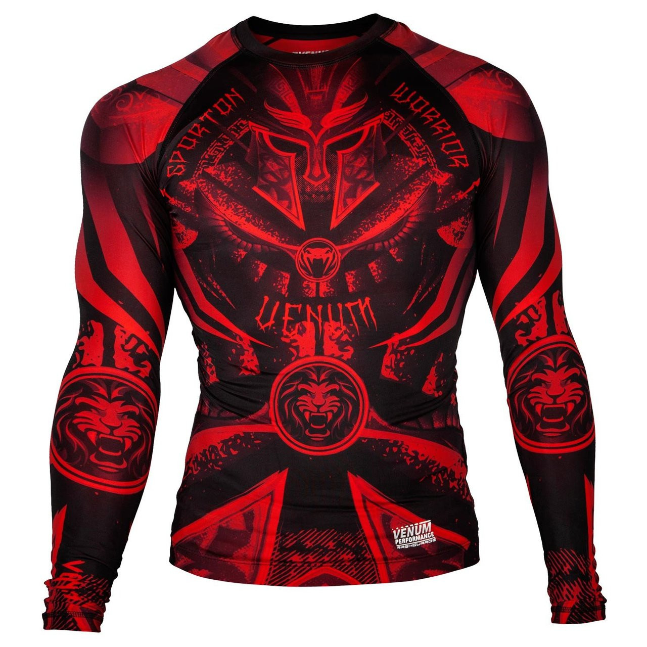 Venum Gladiator 3.0 Longsleeve Rashguard (Black/Red)  Available at www.thejiujitsushop.com  Enjoy Free Shipping from The Jiu Jitsu Shop.