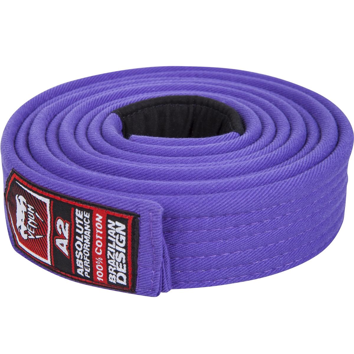 Venum Brazilian Jiu Jitsu purple belt , All Belt colors at www.thejiujitsushop.com   Enjoy Free shipping on Venum BJJ Belts today from The Jiu Jitsu Shop
