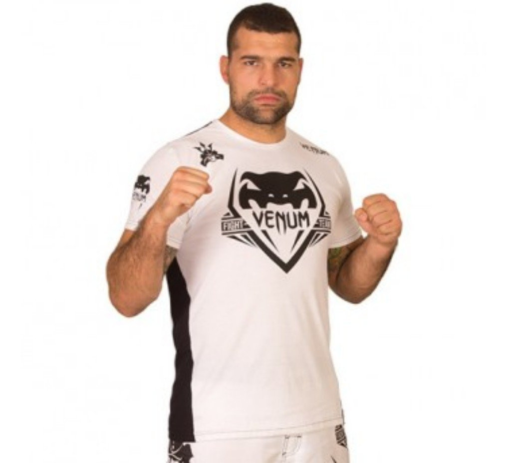 Venum Shogun Team T-shirt White/Black now at www.thejiujitsushop.com   Enjoy Free Shipping from The Jiu Jitsu Shop.