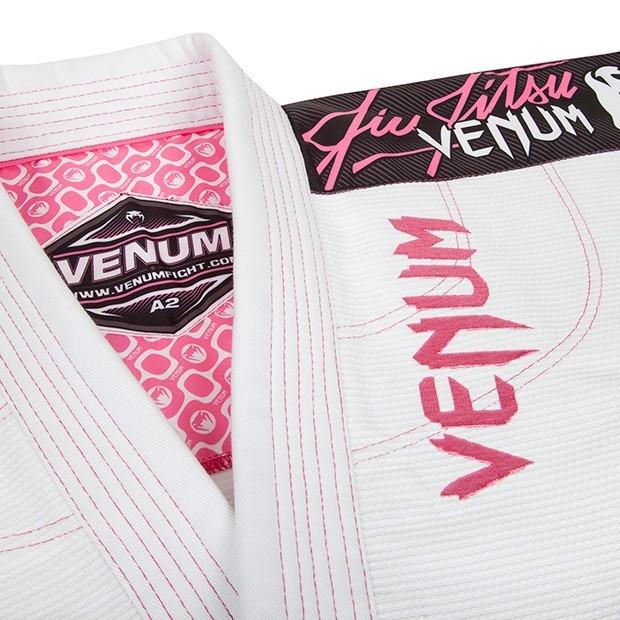 Venum Challenger 2.0 Women's White and Pink Jiu Jitsu Gi @ www.thejiujitsushop.com
