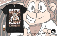 Let's Roll Monkey Tshirt