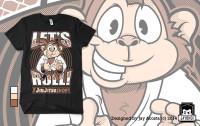 Let's Roll Monkey Tshirt