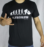 Open Guard Apparel Jiu Jitsu Evolution T shirt - Black