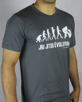 OGA Jiu Jitsu Evolution Brazilian Jiu JItsu T-Shirt in Grey.   Free Shipping from The Jiu Jitsu Shop.