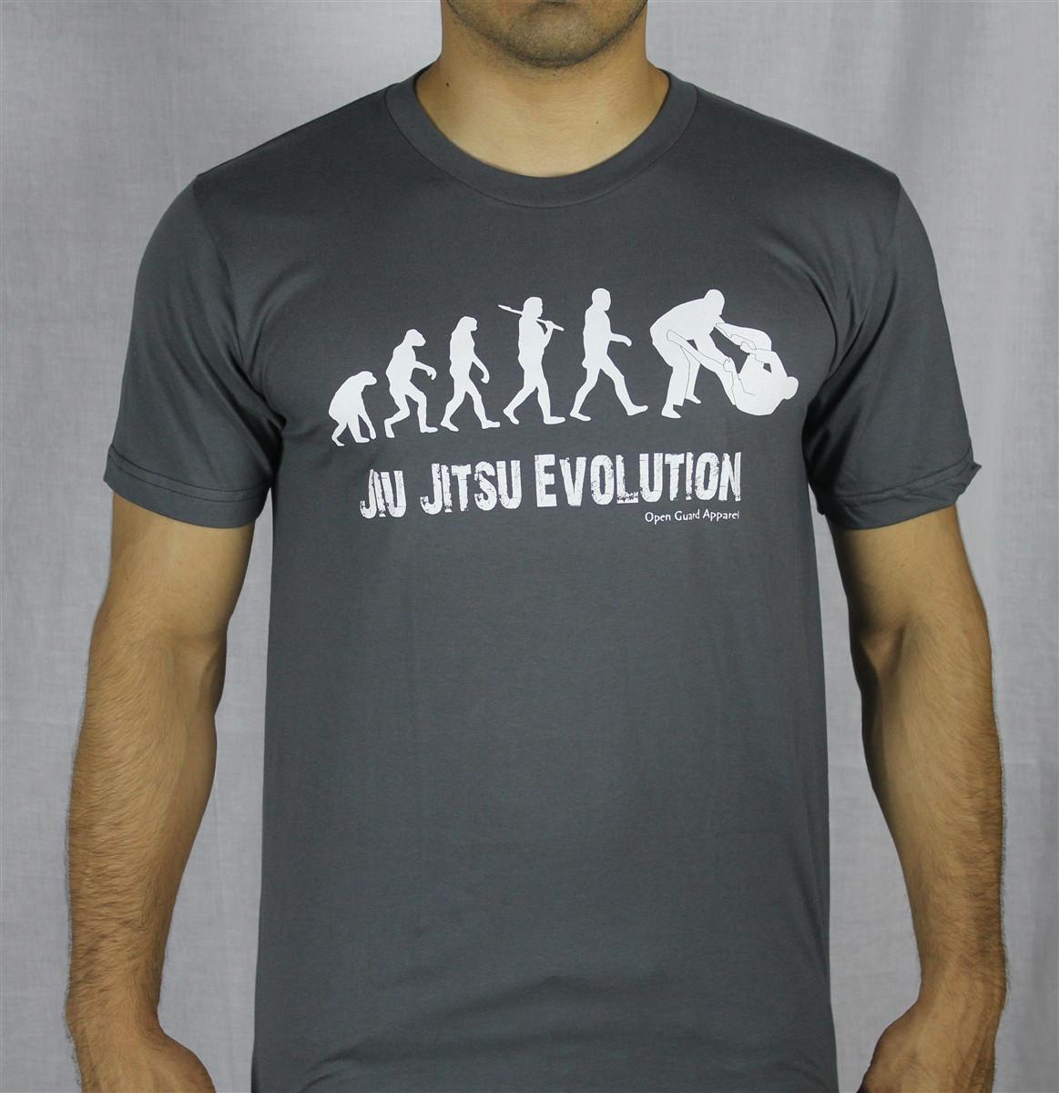 41774b73e Free Shipping from; OGA Jiu Jitsu Evolution Brazilian Jiu JItsu T-Shirt in  Grey.