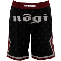 No Gi Industries Kingpin Shorts.  Black and burgandy limited edition shorts.   Available at www.thejiujitsushop.com.  When not training bjj they can be used as all around awesome shorts.