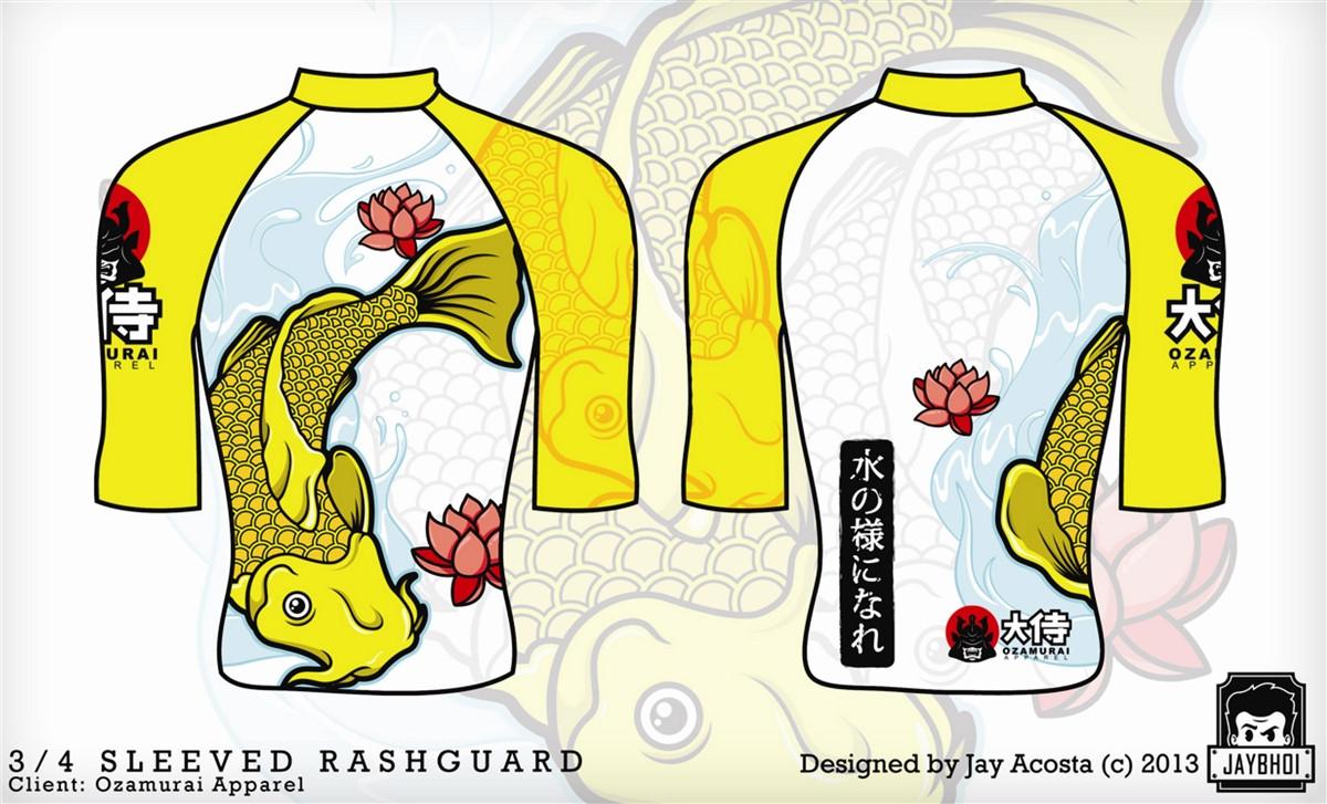Kozamurai Yellow Koi Adult Rashguard @ www.thejiujitsushop.com