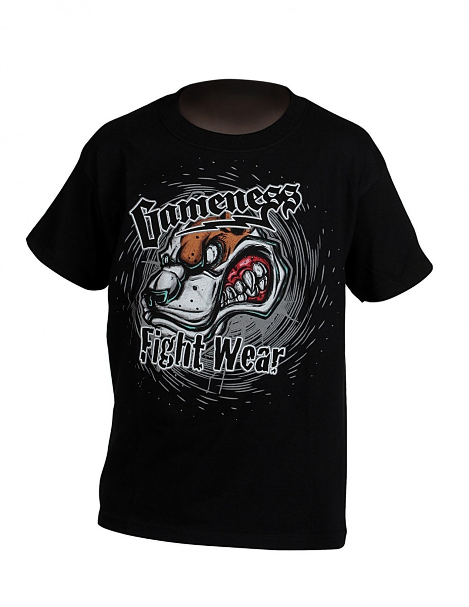 gameness growl dog tshirt in black available at www.thejiujitsushop.com   Enjoy free shipping from The Jiu Jitsu Shop today!